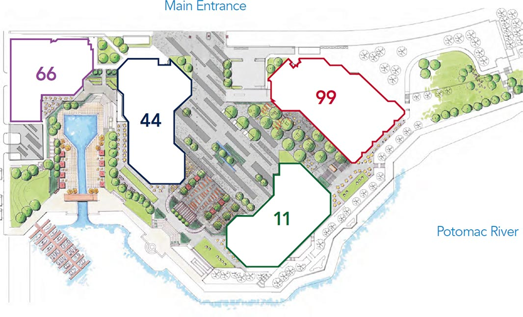 Site Plan map for Canal Center